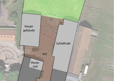 platte grond terein, huis & Groep