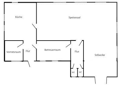 plattegrond keuken & eetzaal
