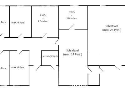 plattegrond slaapkamers groep